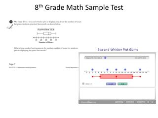 8 th  Grade Math Sample Test