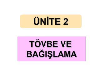 ÜNİTE 2