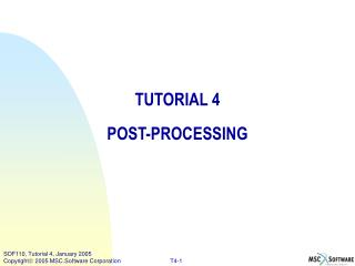 TUTORIAL 4 POST-PROCESSING