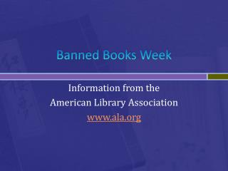 Banned Books Week
