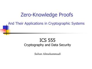 Zero-Knowledge Proofs