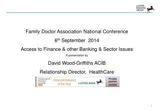 Family Doctor Association National Conference  6 th  September  2014