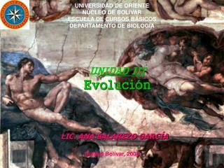 UNIDAD III Evolución