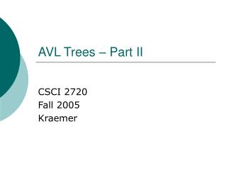 AVL Trees – Part II