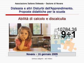 Novara – 16 gennaio 2009