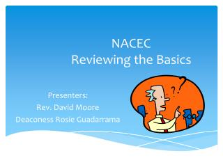 NACEC  Reviewing the Basics
