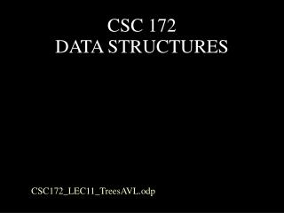 CSC 172  DATA STRUCTURES