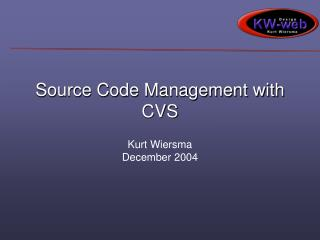 Source Code Management with CVS