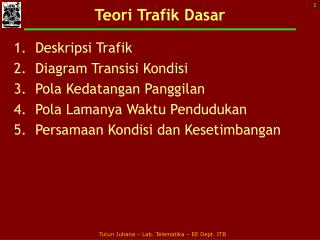 Teori Trafik Dasar