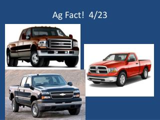 Ag Fact!  4/23