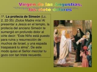 Virgen de las Angustias, los siete dolores