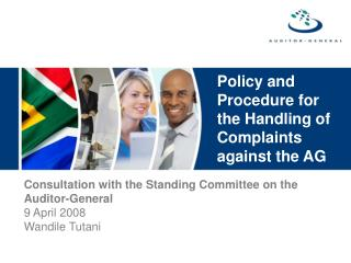 Policy and Procedure for the Handling of Complaints against the AG