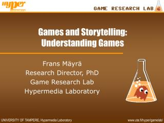Games and Storytelling: Understanding Games