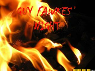 GUY FAWKES  ' NIGHT