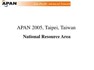 National Resource Area