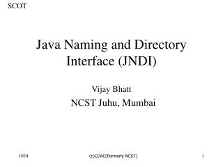 Java Naming and Directory Interface JNDI