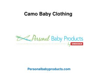 Camo Baby Clothing By Randesign