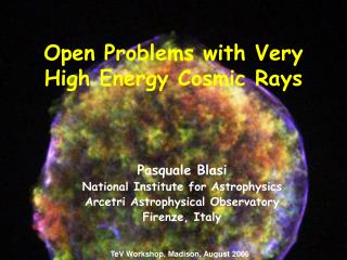 Open Problems with Very High Energy Cosmic Rays