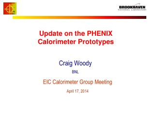 Update on the PHENIX Calorimeter Prototypes
