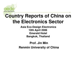 Country Reports of China on the Electronics Sector
