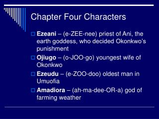 Chapter Four Characters