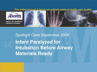 Spotlight Case September 2003