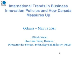 International Trends in Business Innovation Policies and How Canada Measures Up