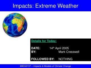 Impacts: Extreme Weather