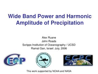 Wide Band Power and Harmonic Amplitude of Precipitation