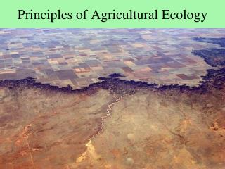 Principles of Agricultural Ecology