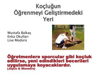Mustafa Balkaş Enka Okulları Lise Müdürü