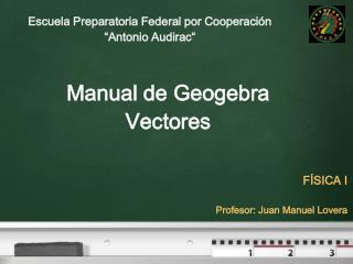 Manual de  Geogebra Vectores