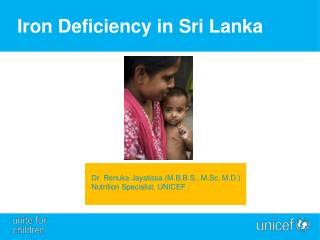 Iron Deficiency in Sri Lanka