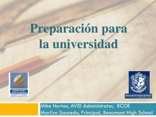 Preparación para la universidad