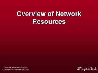 Overview of Network Resources