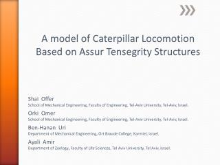 A model of Caterpillar Locomotion Based on Assur Tensegrity Structures