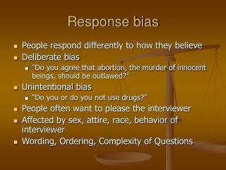 Response bias