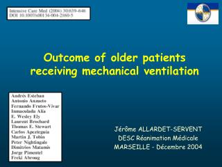 Outcome of older patients receiving mechanical ventilation