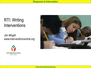 RTI: Writing  Interventions Jim Wright interventioncentral