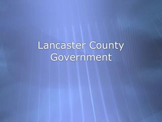 Lancaster County Government