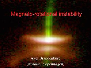 Magneto-rotational instability