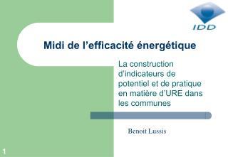 Midi de l'efficacité énergétique