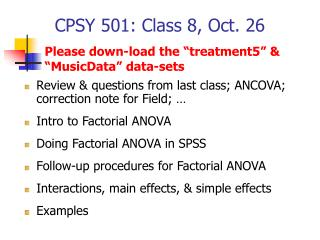CPSY 501: Class 8, Oct. 26