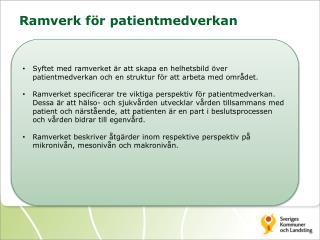 Ramverk för patientmedverkan