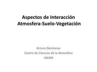 Aspectos de Interacci n  Atmosfera-Suelo-Vegetaci n