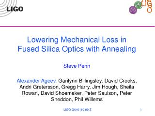 Lowering Mechanical Loss in Fused Silica Optics with Annealing