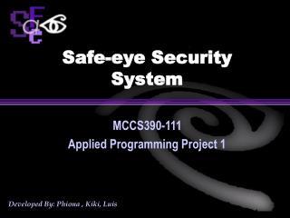 Safe-eye Security System