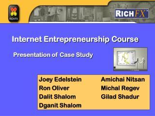 Internet Entrepreneurship Course