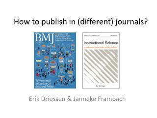 How  to publish  in (different)  journals ?