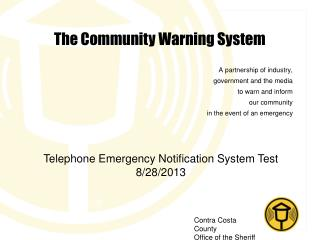 The Community Warning System
